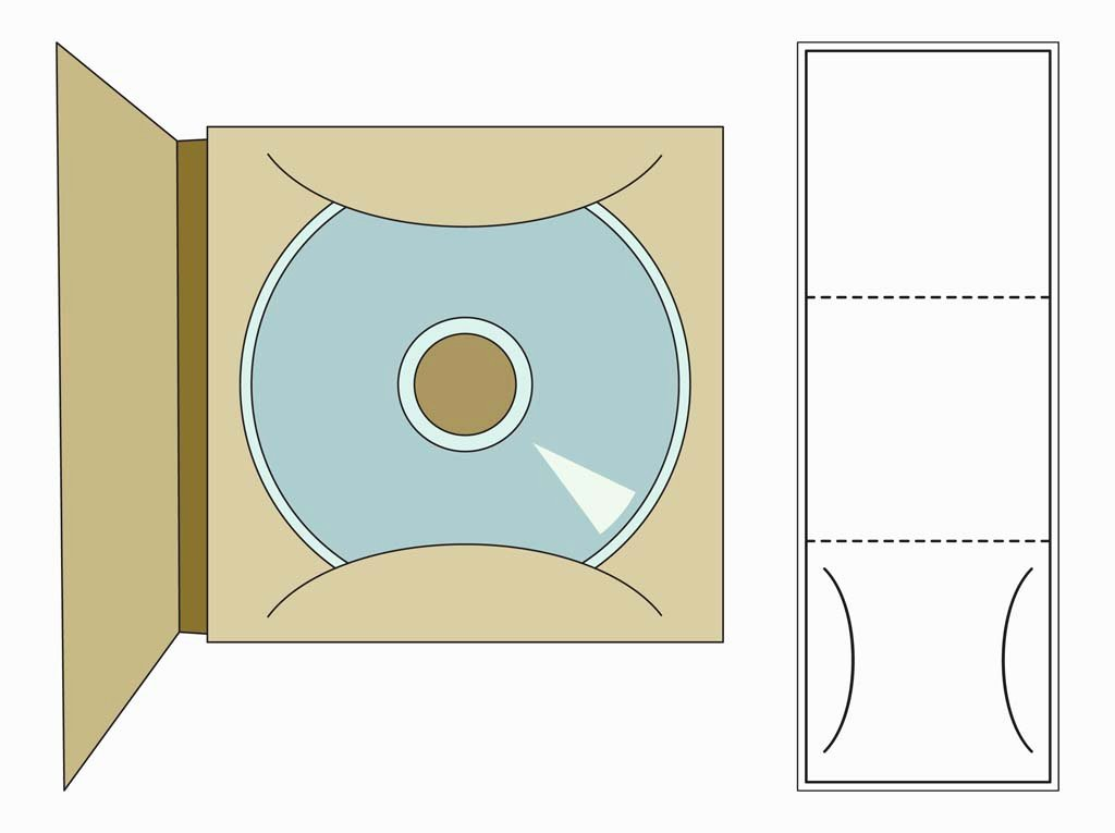 Cd Case Template Free Vectors