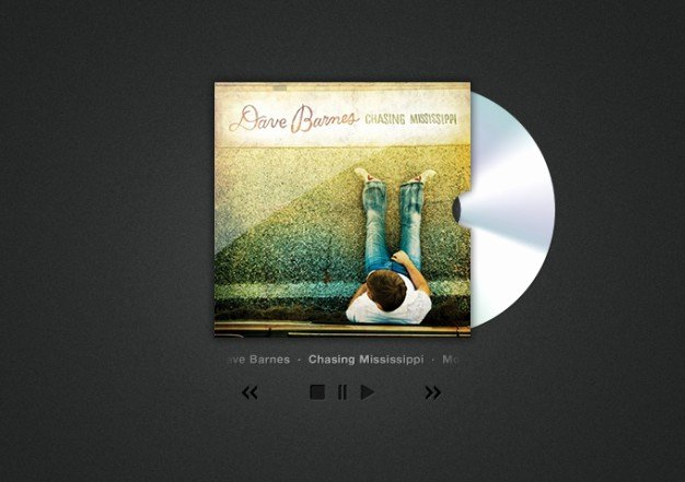 Cd Cover Art and Player Psd File