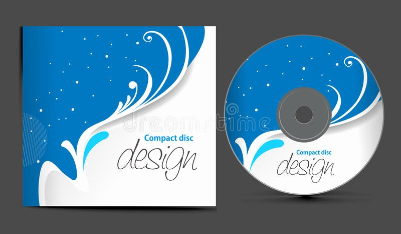 Cd Cover Design Stock Vector Illustration Of Decoration