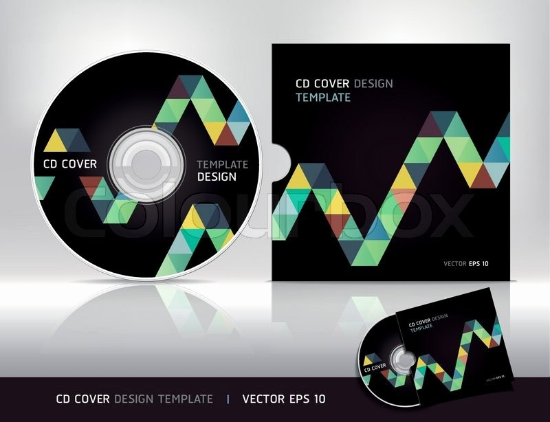 Cd Cover Design Template Abstract Background