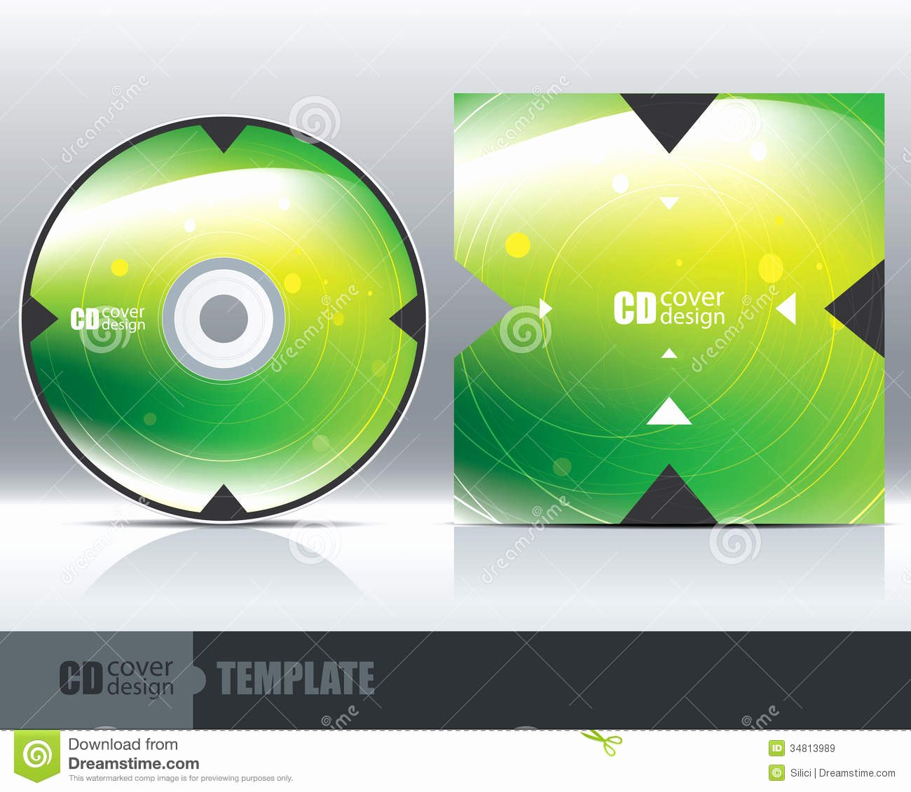 Cd Cover Design Template Set 1 Stock Vector Illustration