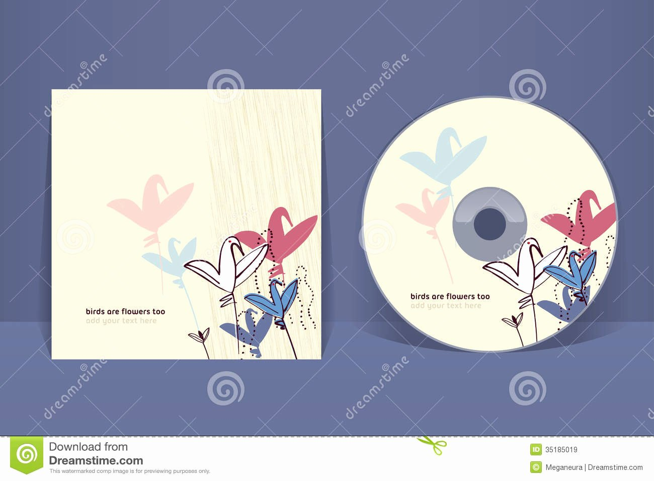 Cd Cover Design Template Stock Vector Illustration Of