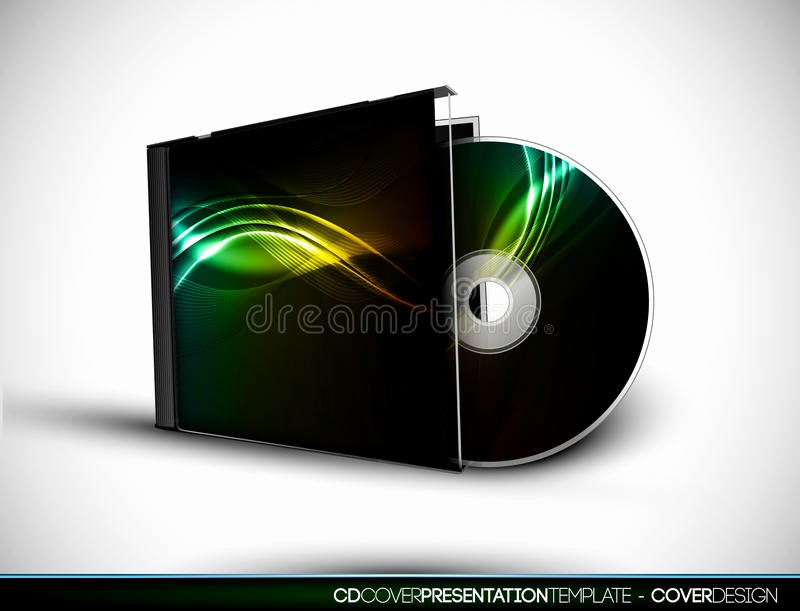 Cd Cover Design with 3d Presentation Template Stock Image