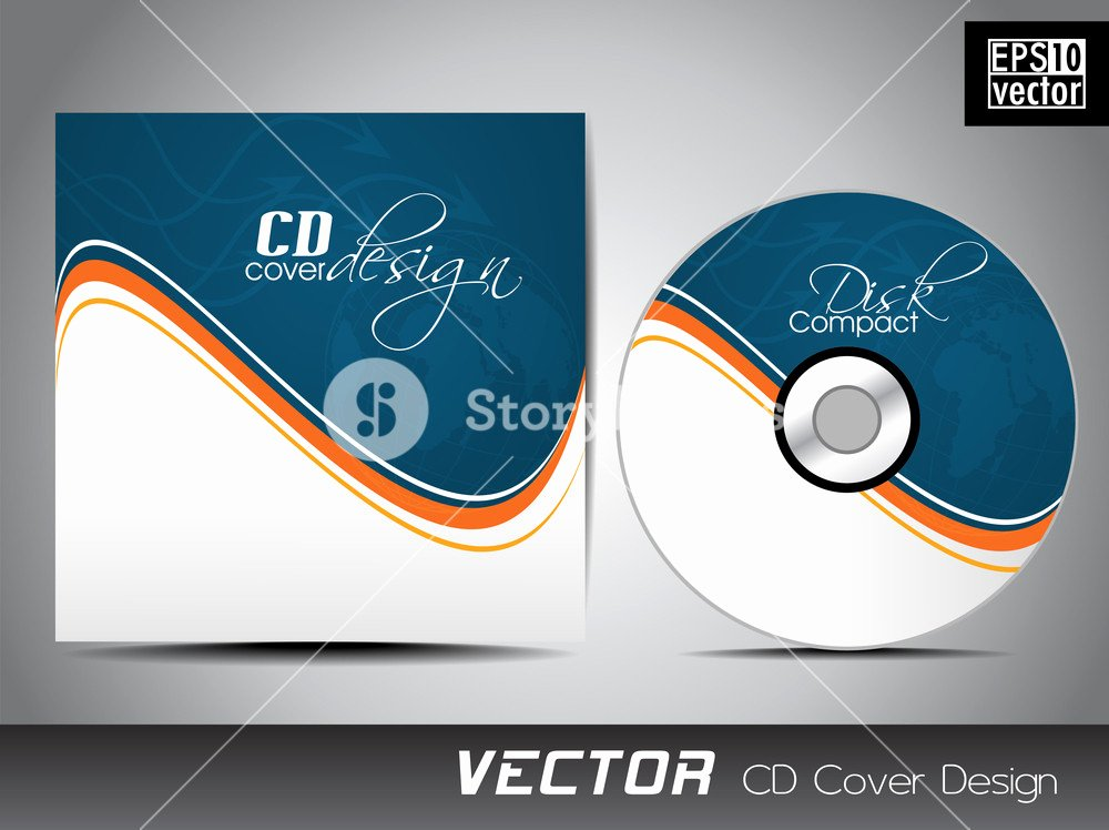 Cd Cover Presentation Design Template with Copy Space and
