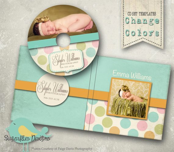 Cd Dvd Label Photoshop Template Dvd Case & Label Polkadots