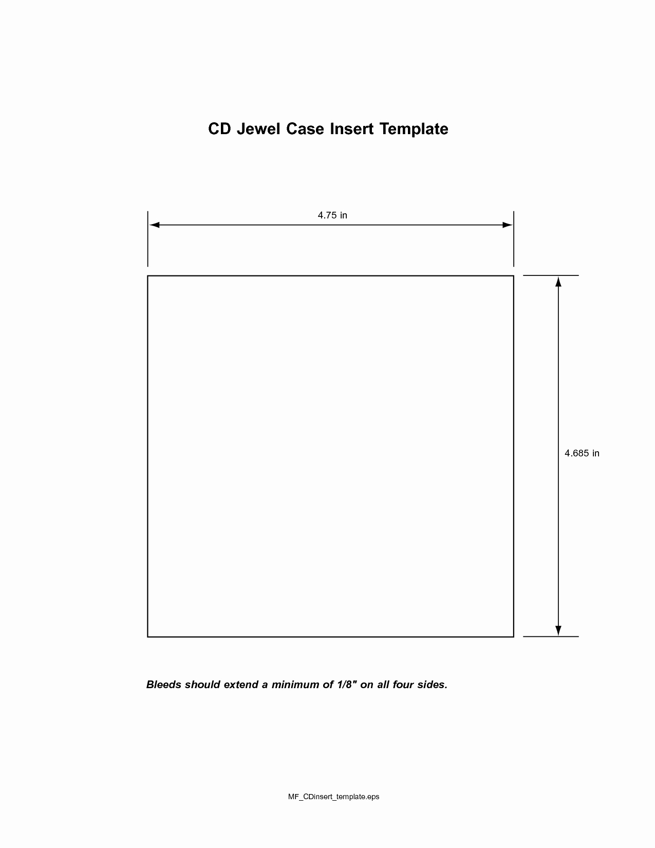 Cd Insert Template
