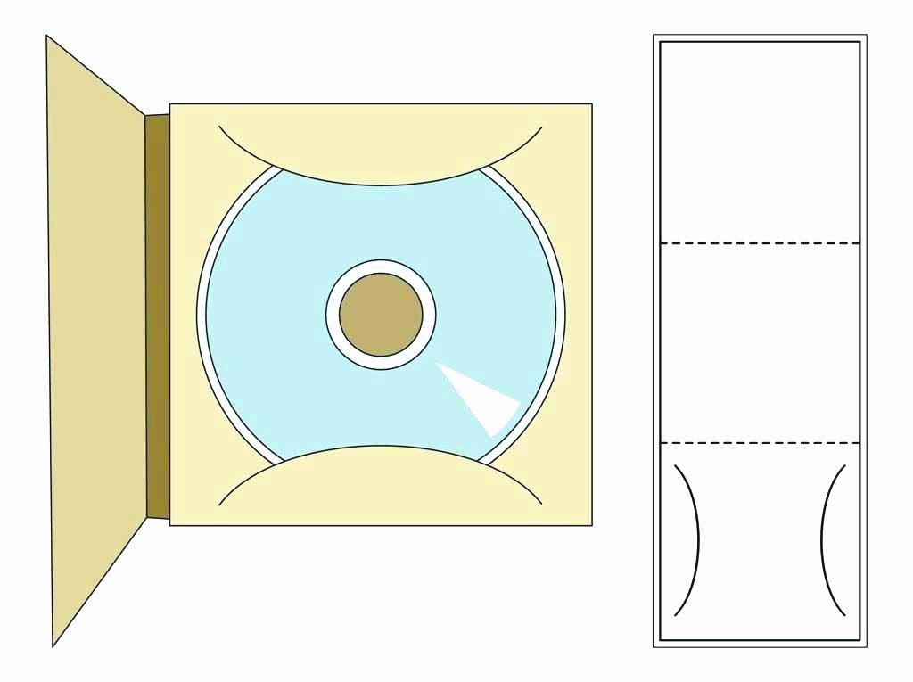 Cd Paper Sleeve Template Free Mailer Templates Packaging