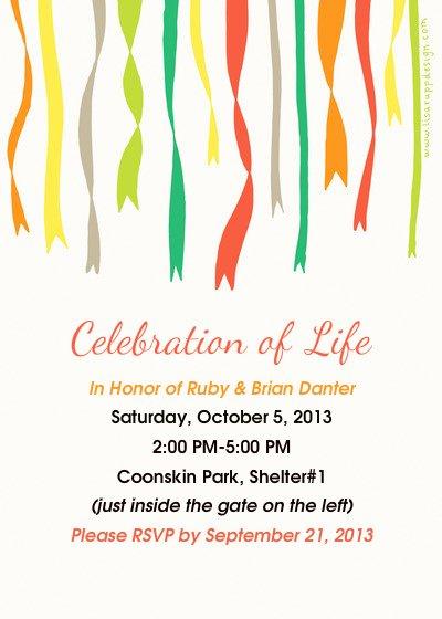 Celebration Of Life Ruby & Brian Danter Line