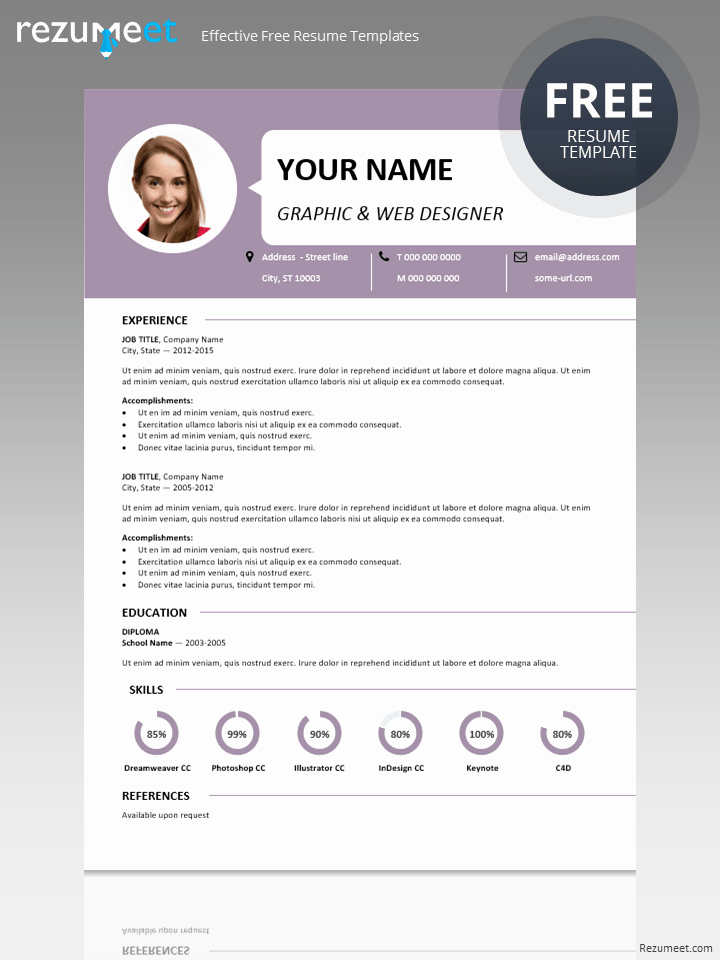 Centrum Simple Resume Template