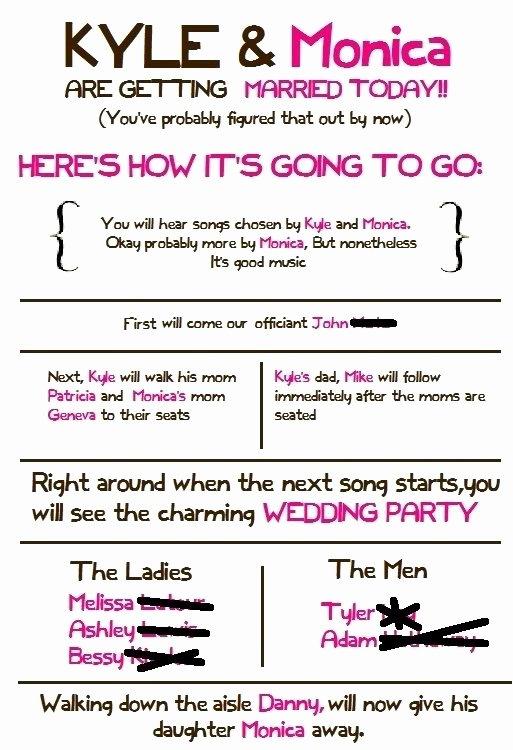 Ceremony Programs Weddingbee Do It Yourself