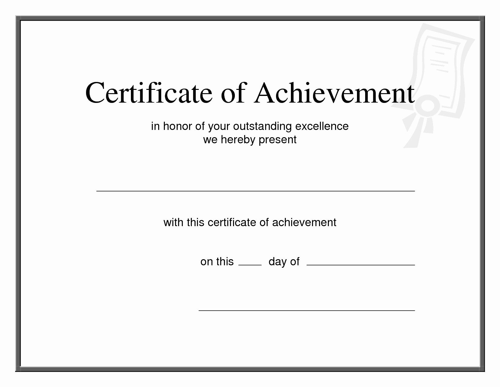 Certificate Achievement Template Word Templates Data