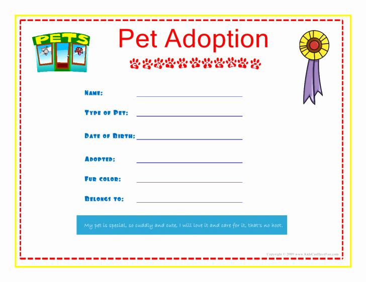 Certificate Adoption Certificate
