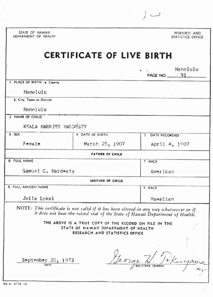 Certificate Birth Certificate Template