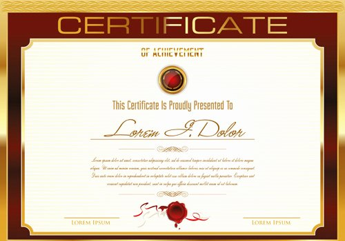 Certificate Design Templates Free Vector 13 031