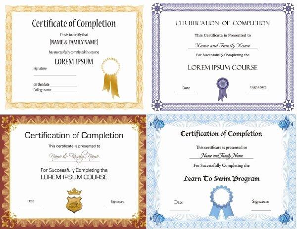Certificate Design Templates Free Vector 13 397