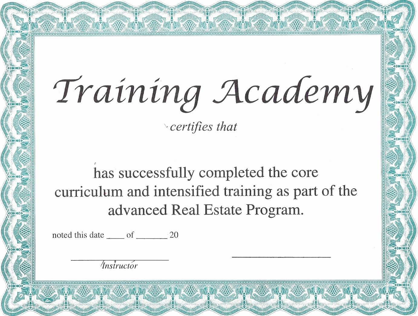 Certificate Of Achievement Template Pdf