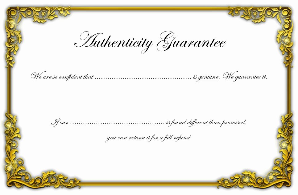 Certificate Of Authenticity Template 3 Ss – Best 10