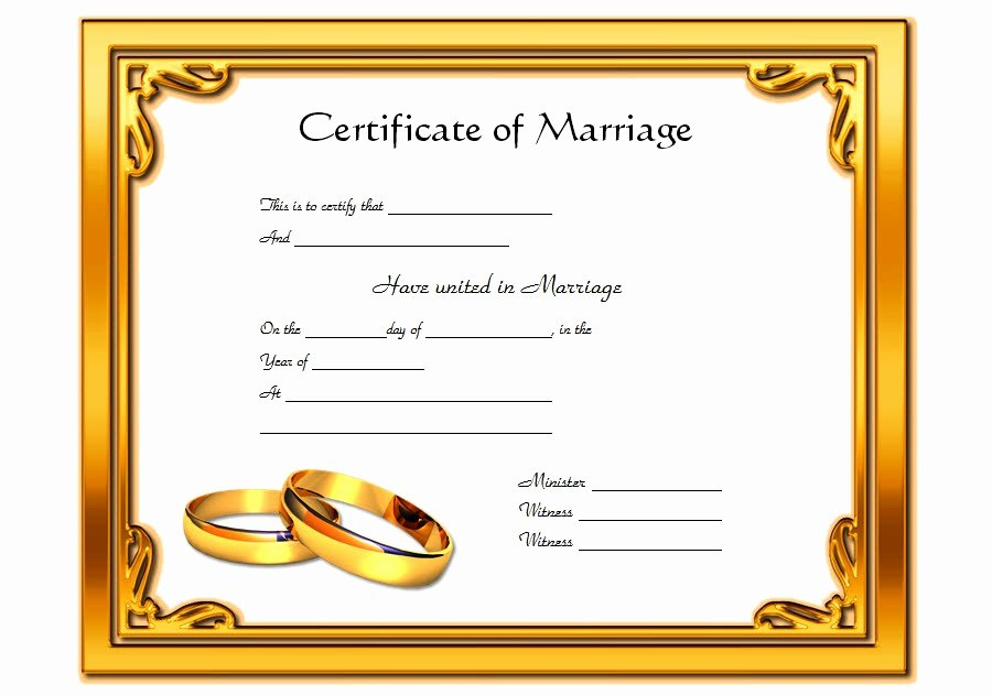 Certificate Of Marriage Template – Best 10 Templates
