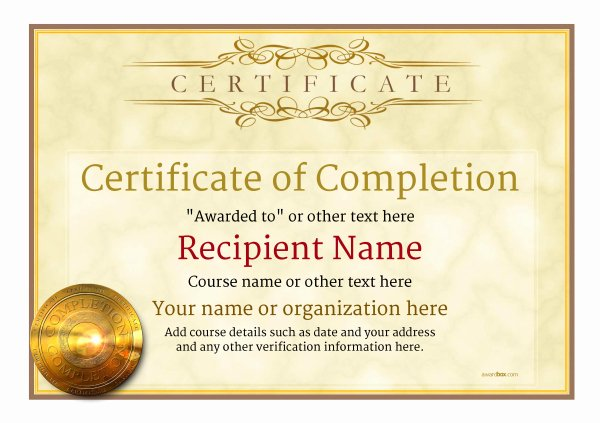 Certificate Of Pletion Free Quality Printable