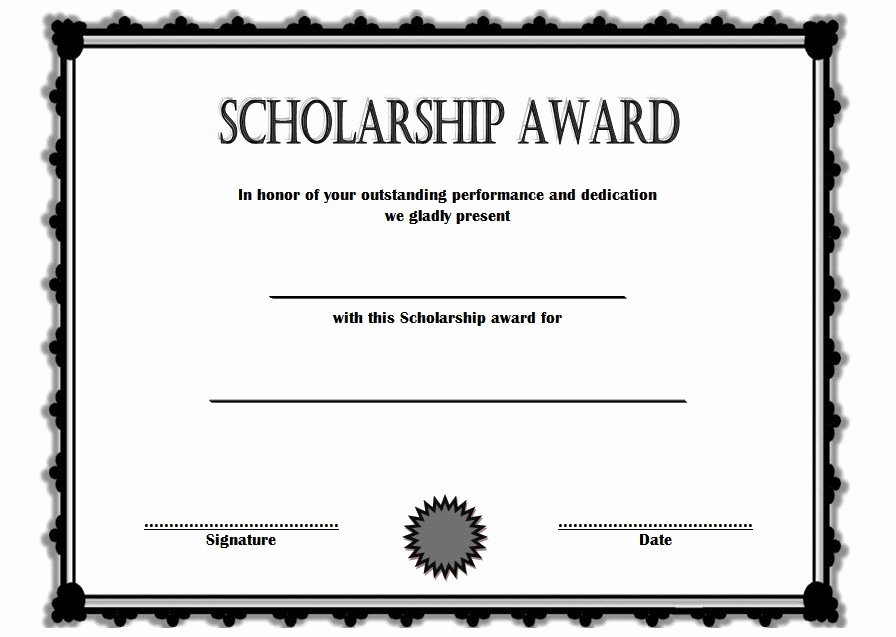 Certificate Of Scholarship 6 – the Best Template Collection