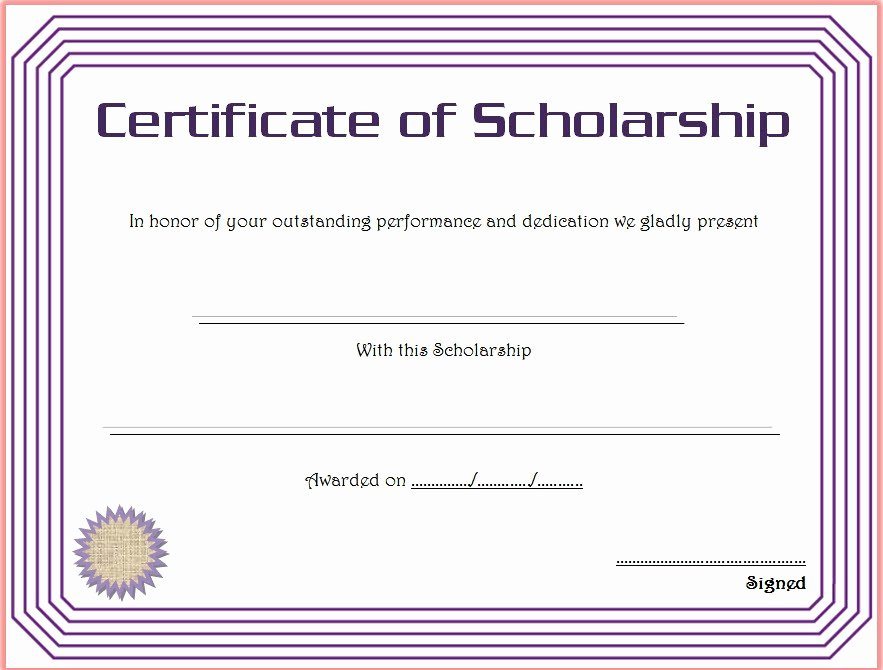 certificate of scholarship 8