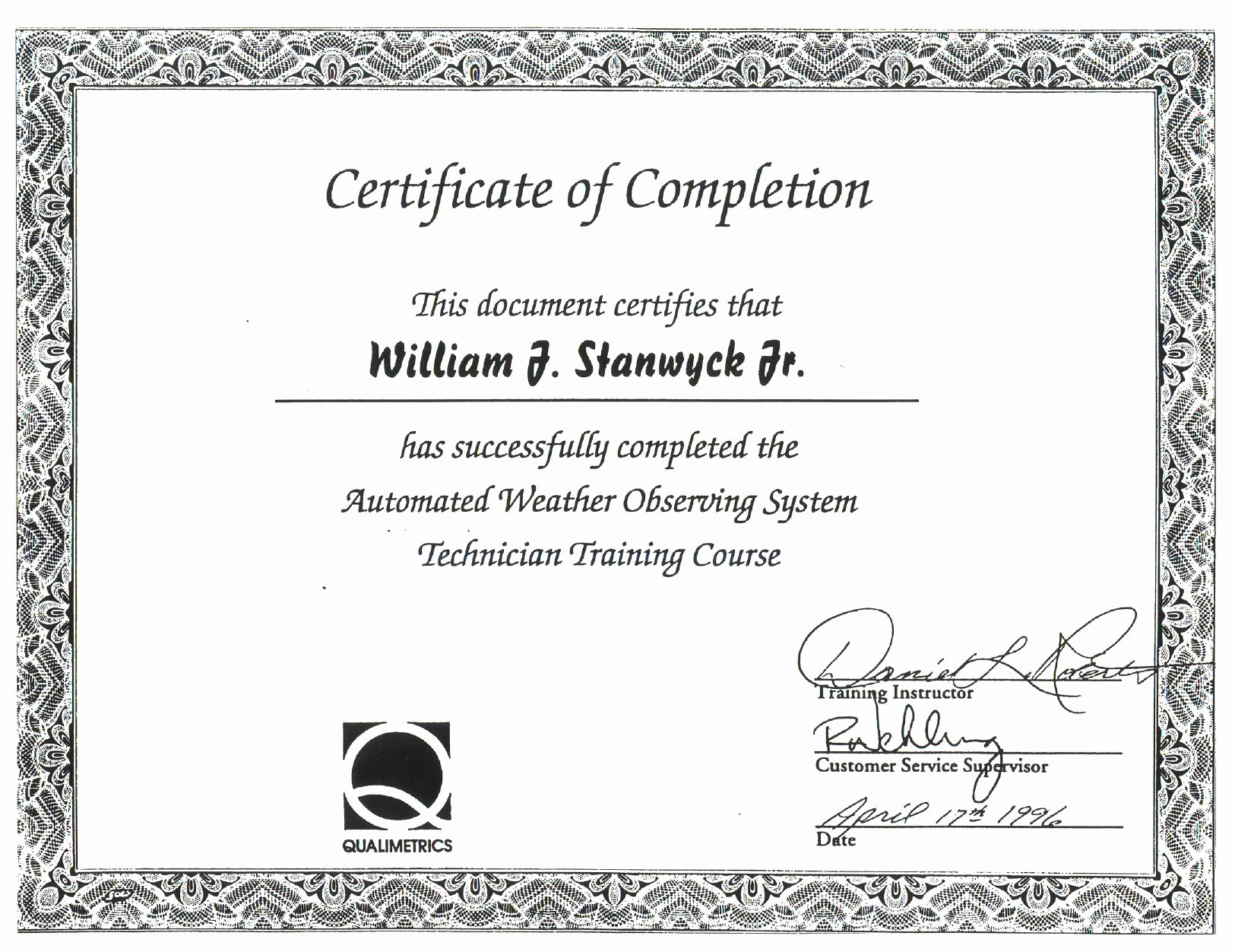 Certificate Pletion Free Template