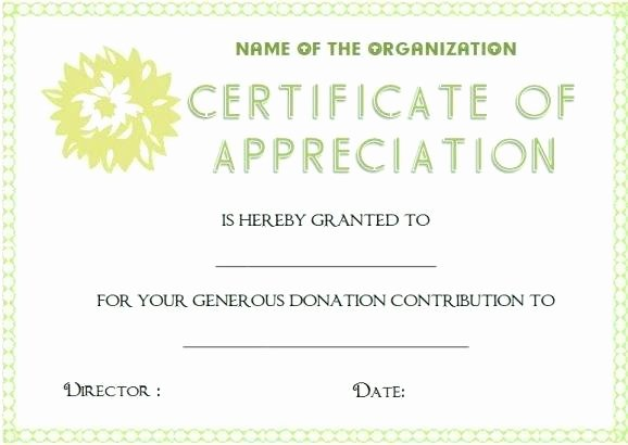 Certificate Sample Rotary Appreciation Template