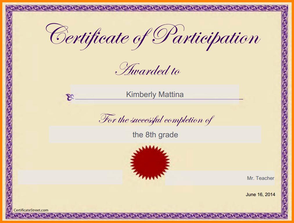 Certificate Template Google Docs