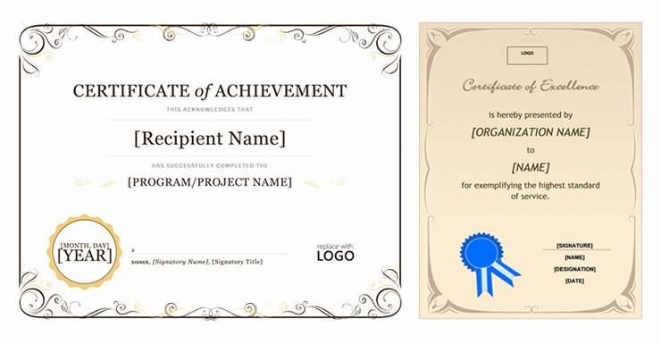Certificate Template In Ms Word 2007
