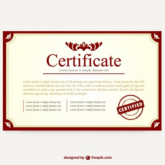 Certificate Template Layout Vector