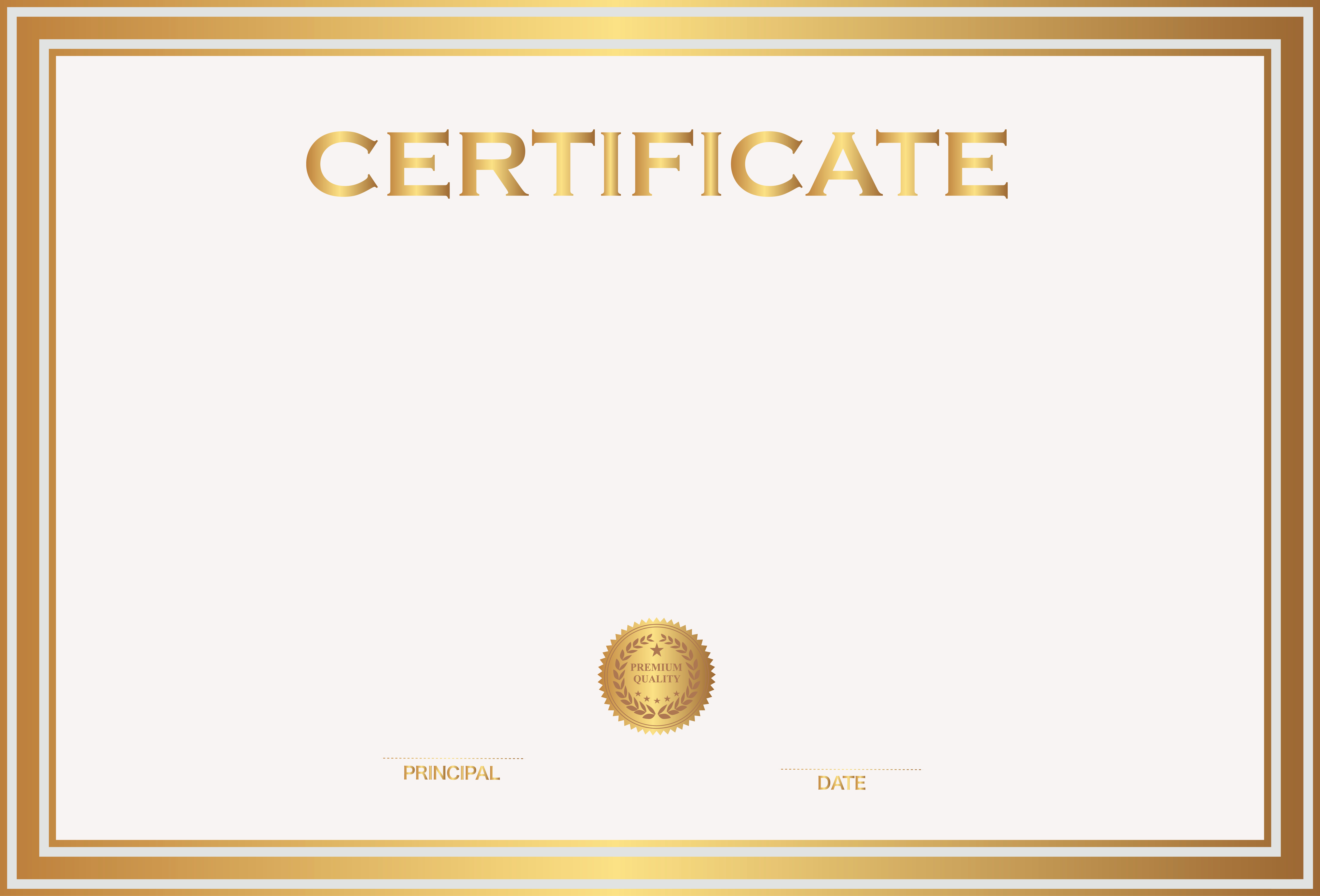 Certificate Template Png Transparent Certificate Template
