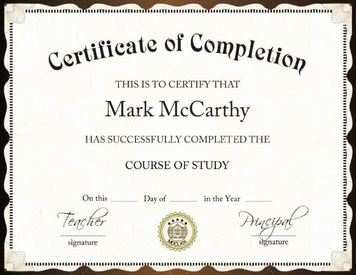 Certificate Template Word Certificate Templates Trakore