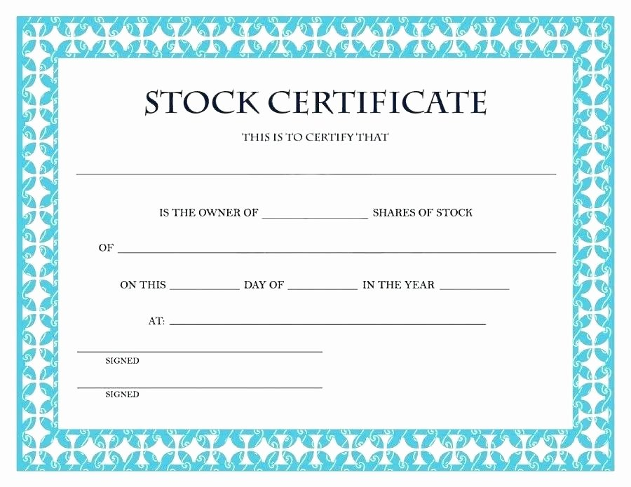 Certificate Template Word Download Corporate Stock