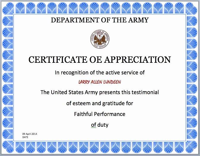 Certificates Appreciation Templates