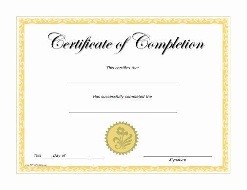 Certificates Of Pletion