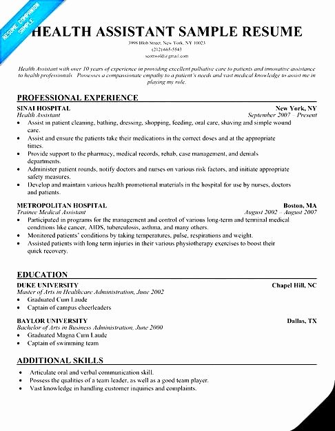 Certified Home Health Aide Resume Free Samples