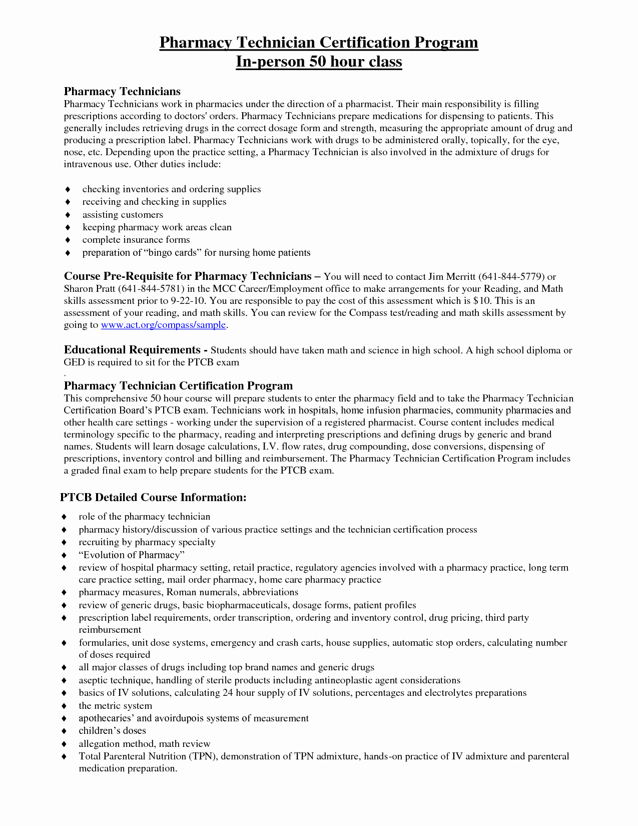 Certified Pharmacy Technician Resume Resume Ideas