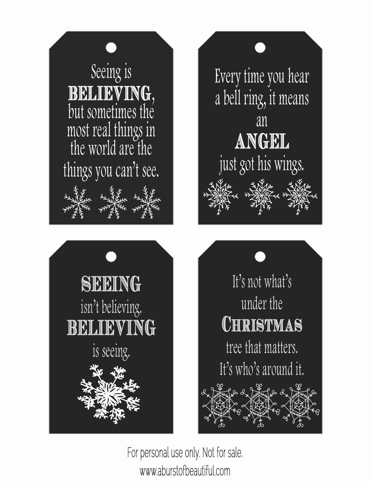 Chalkboard Christmas Tags Free Printable A Burst Of