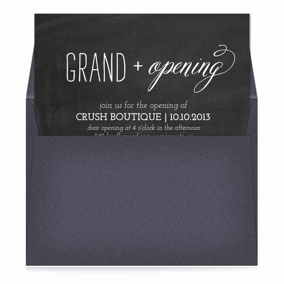 Chalkboard Grand Opening Invitations & Cards On Pingg