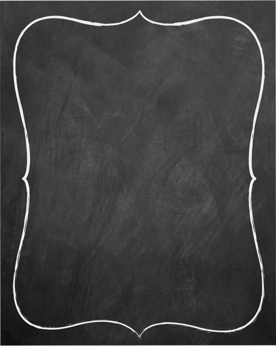 Chalkboard Invitation Template Blank Templates Resume