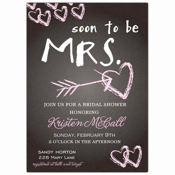 Chalkboard Love Bridal Shower Invitations