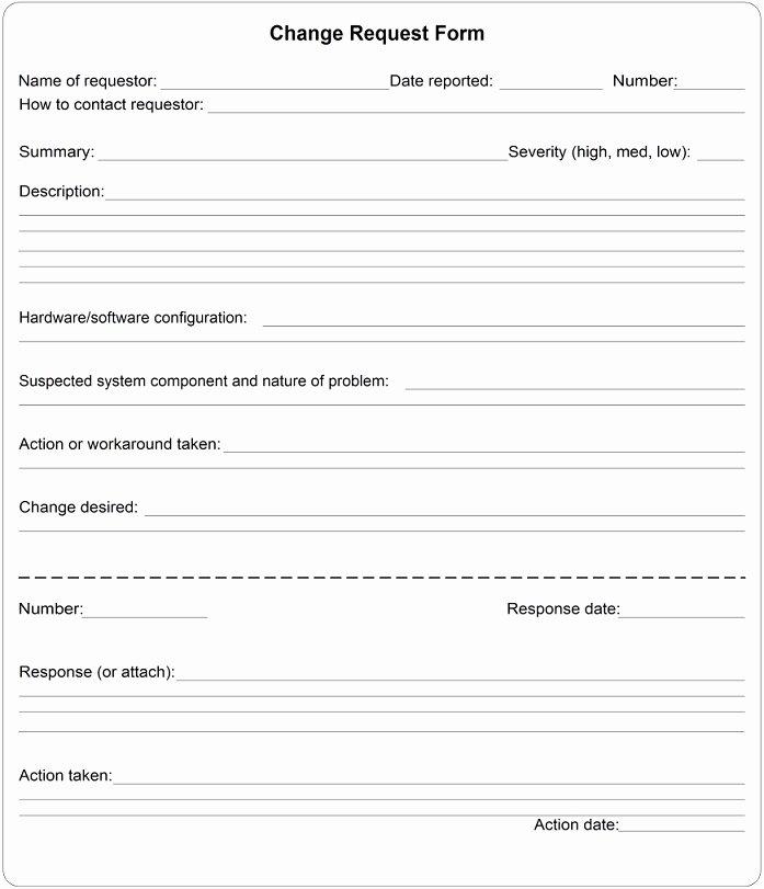 Change order form Excel