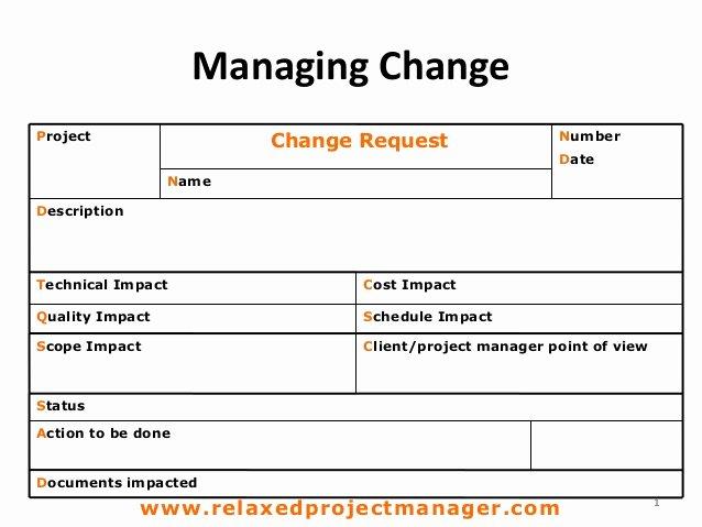 Change order form Template