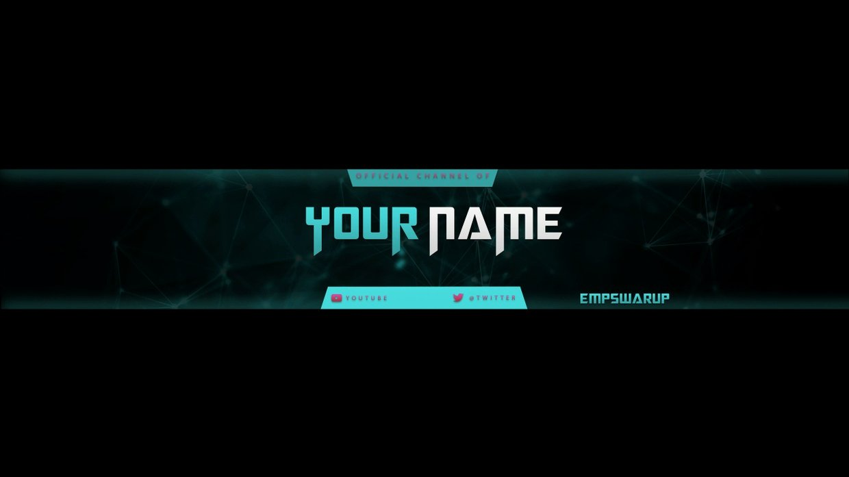 Channel Art Template Shop