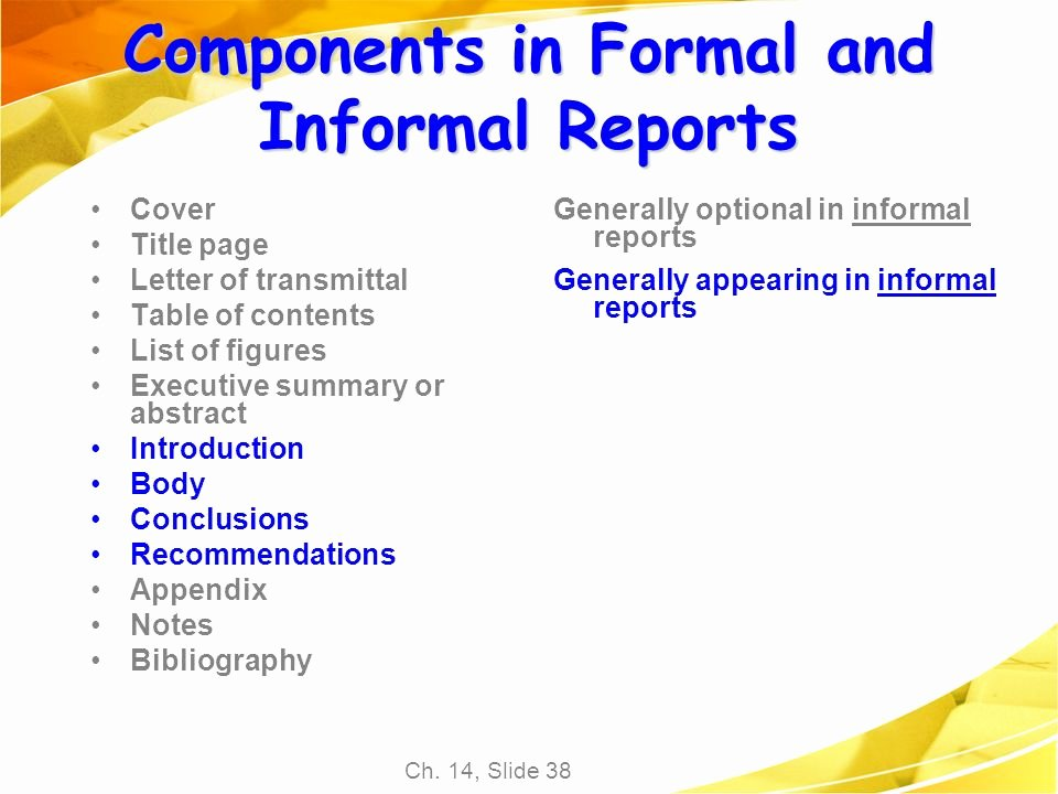 Chapter 14 Proposals and formal Reports Ppt Video Online