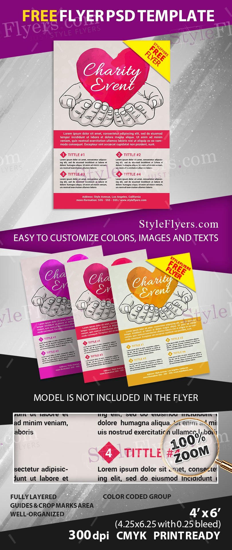Charity event Free Psd Flyer Template Free Download