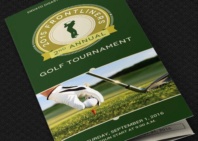 Charity Golf tournament Brochure Template