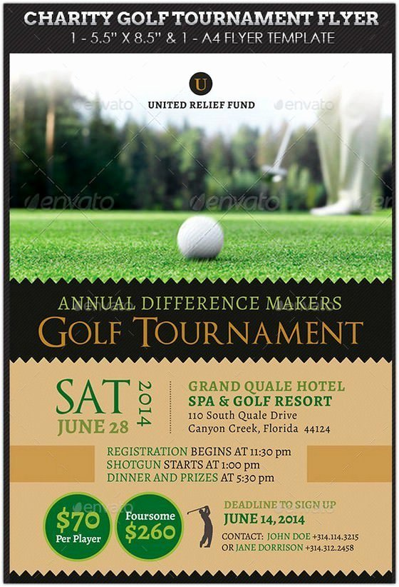 Charity Golf tournament Flyer Template Free Templates
