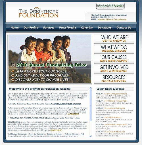 Charity Website Template Charitable Foundation Web