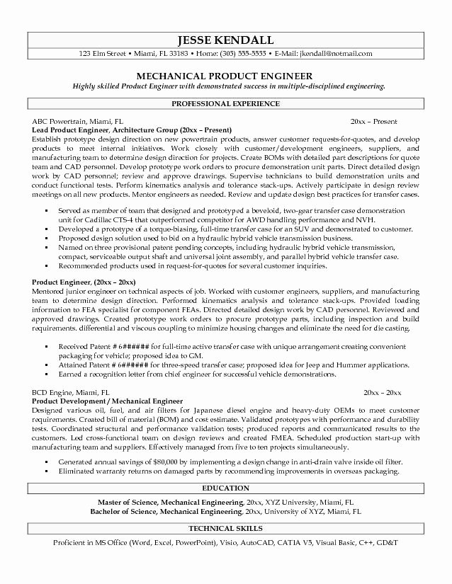 Charming Good Engineering Resume Sample for Your Good